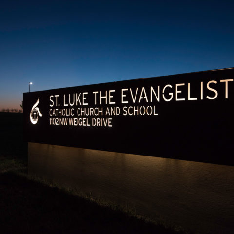 St. Luke the Evangelist Catholic Church Sign